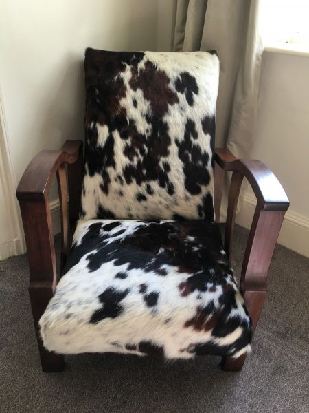 cowhide chair re-upholstery : Swipe To View More Images