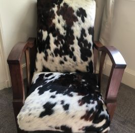 cowhide chair re-upholstery : Click Here To View Larger Image